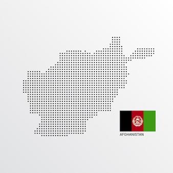 アフガニスタン地図デザイン