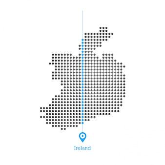 Ирландия пристрастилась к вектору дизайна карты