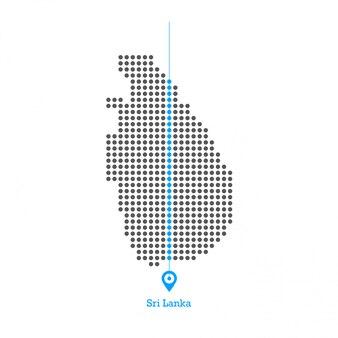 Шри-ланка, привязанный к карте