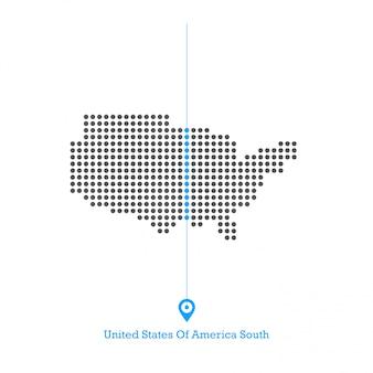 アメリカ合衆国南アイドルマップデザインベクトル