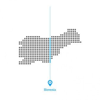 スロベニアドットマップデザインベクター