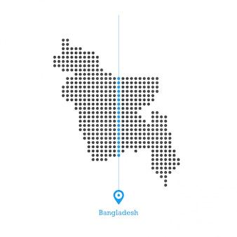 バングラデシュドットマップデザインのベクトル