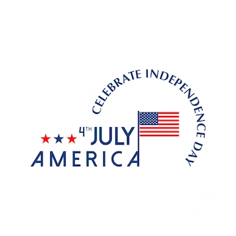 Американская карта дня независимости с флагом сша и светом фона