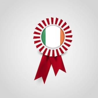 アイルランドのフラグバッジデザインベクトル