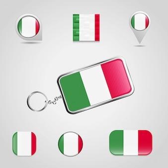 イタリアの旗のデザインベクトル