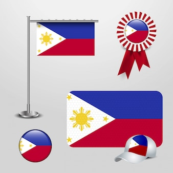 創造的なデザインのベクトルとフィリピンのフラグ