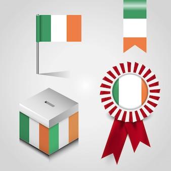 創造的なデザインのベクトルとイタリアの旗