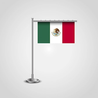 Мексиканский флаг с креативным вектором дизайна