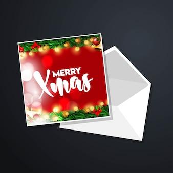 エレガントなデザインと暗い背景とクリスマスカードのデザイン
