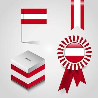 オーストリアの旗のデザインベクトル