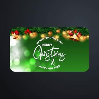 エレガントなデザインと暗い背景ベクトルとクリスマスカードのデザイン