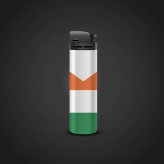 Ирландский флаг светлый дизайн вектор
