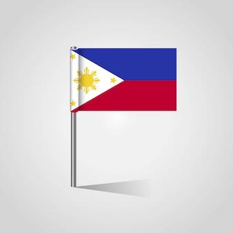 Филлипинский флаг с креативным вектором дизайна