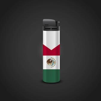 メキシコの旗ライターデザインベクトル