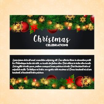 Шаблон рождественского баннера