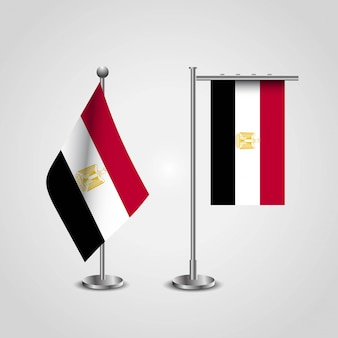 Египетский флаг страны на полюсе