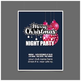優雅なデザインのクリスマスカードデザイン