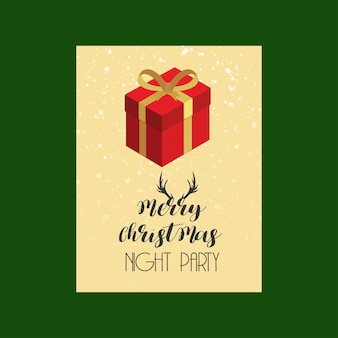 クリエイティブなデザインのメリークリスマスカード