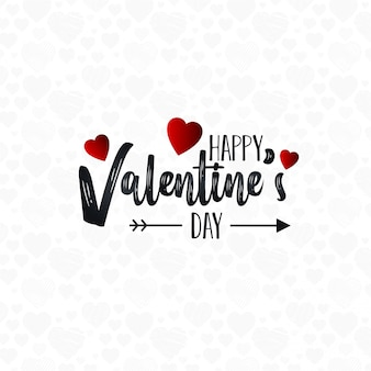 幸せなバレンタインデーの文字の背景