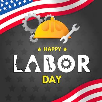 アメリカデザインの幸せな労働者の日