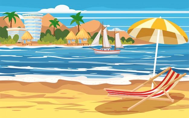 Отдых, путешествия, морской пейзаж, океан, отдых, тропический пляж, остров