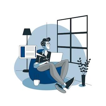 Иллюстрация концепции блогов