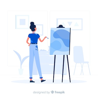 デザイナーの女の子の概念図