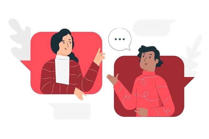 Иллюстрация концепции разговора