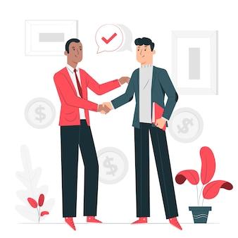 Иллюстрация концепции коммерческой сделки