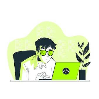 Иллюстрация концепции кодирования