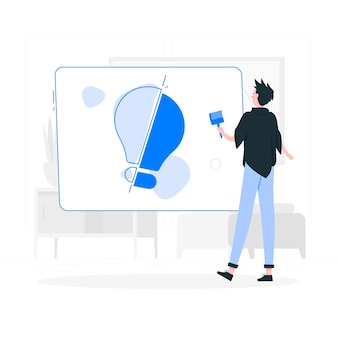 Иллюстрация концепции творчества