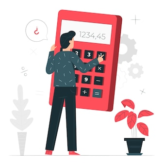 Иллюстрация концепции калькулятора