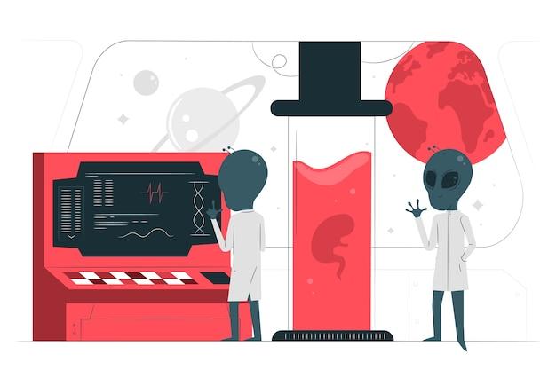 Инопланетная наука концепция иллюстрации
