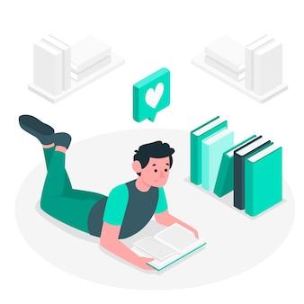Иллюстрация концепции любовника книги
