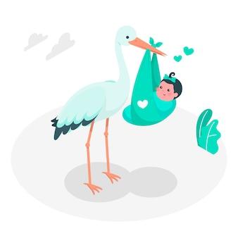 Иллюстрация принципиальной схемы младенца