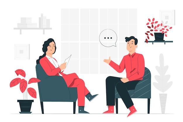Иллюстрация концепции интервью