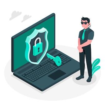 Иллюстрация концепции безопасности