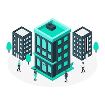 Иллюстрация концепции здания