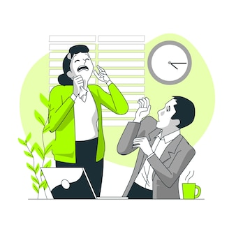 Иллюстрация концепции передачи вируса