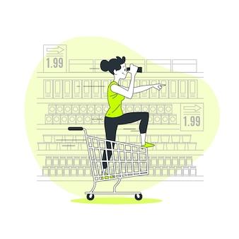 Иллюстрация концепции поиска продукта