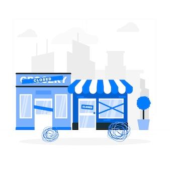 店舗閉鎖(空の都市)の概念図
