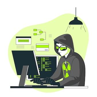 Иллюстрация концепции хакера