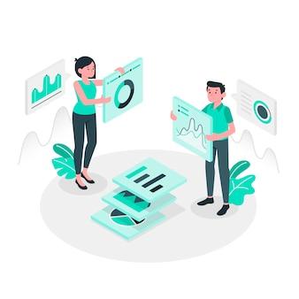 Иллюстрация концепции данных