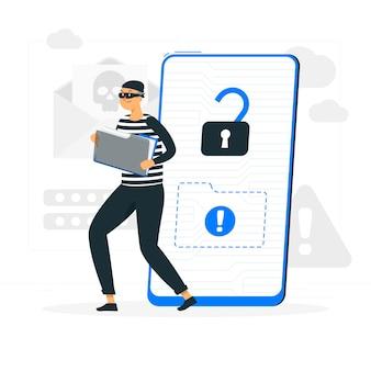 Иллюстрация концепции кибер-атаки