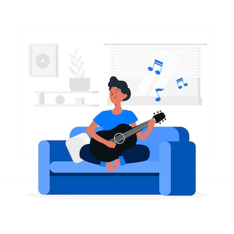 Играя музыкальная концепция иллюстрации