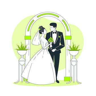 Свадебная концепция иллюстрации