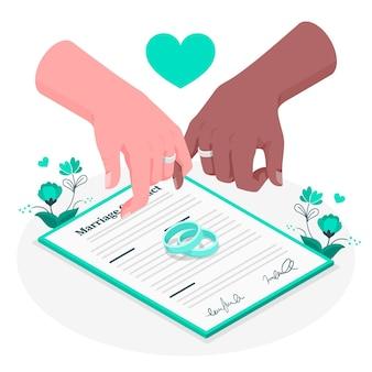 Иллюстрация концепции брака