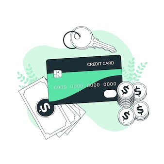 Иллюстрация концепции кредитной карты