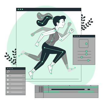 Анимация (движение) концепция иллюстрации