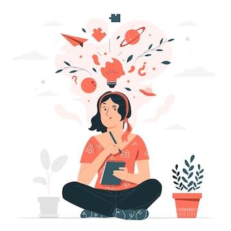 Иллюстрация концепции творческого мышления